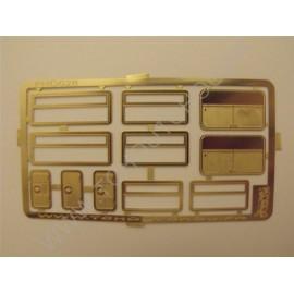 Baies vitrées + portes de coffres - laiton