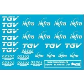 87.004 - TGV + infra - 1/87eme