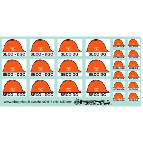 87.017- logo seco DG et seco dgc - 1/87eme - reservation