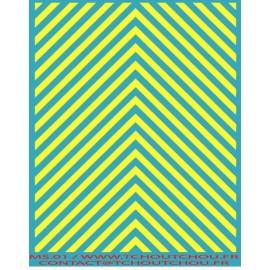 ms01- zebra jaune fluo - 1/43 eme