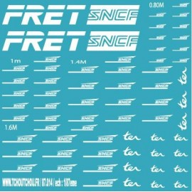 87.014 - Fret sncf + logo sncf casquette - 1/87