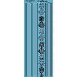 ms019- noir : bande et cercle de 0.25 et 0.5mm