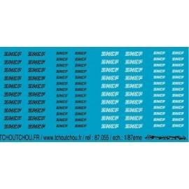 87.055 - sncf logo nouille - 1/87 eme
