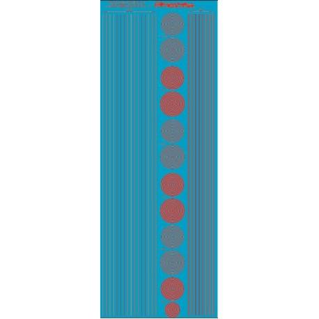 ms019 : bandes et cercles de 0.25 et 0.5mm