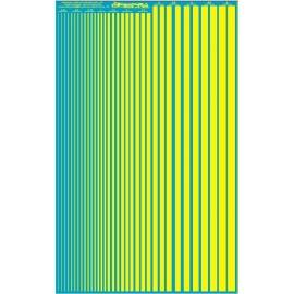 ms020 - jaunes fluo - bandes couleurs calibré