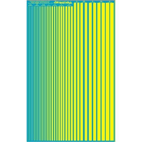 ms020 - jaunes fluo - bandes couleurs