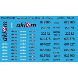 87.058 - akiem + imat infra - ech : 1/87eme