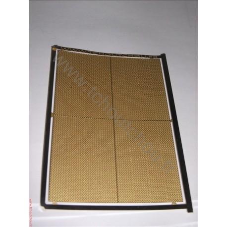 PHD120 :La tôle larmée 5 grain ( 70*100 mm ) - laiton 1/10 1/87eme
