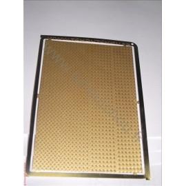 PHD003 : La tôle larmée 5 grain ( 70*100 mm ) laiton 1/10mm 1/43 1/50