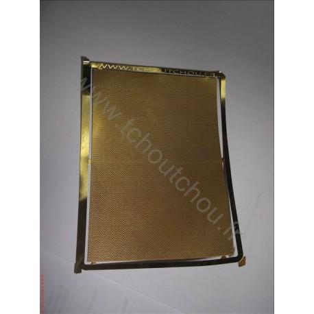 PHD121 :métal strié 70*100mm 1/87eme laiton 1/10mm