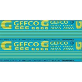 50.030 - décoration gefco semi + porteur - 1/50eme