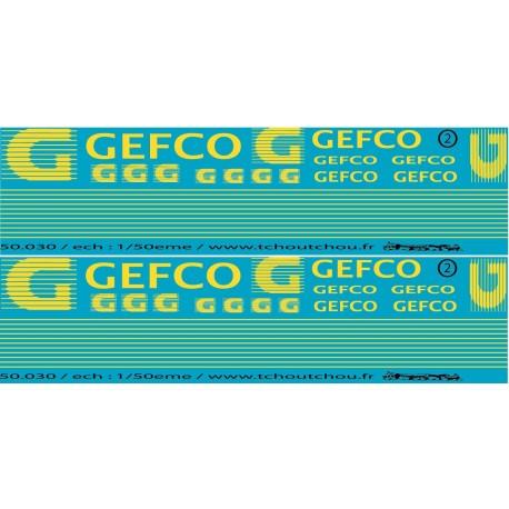 50.030 - décoration gefco semi + porteur - 1/50eme - reservation