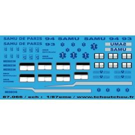 87.066 - samu de paris 1/87eme