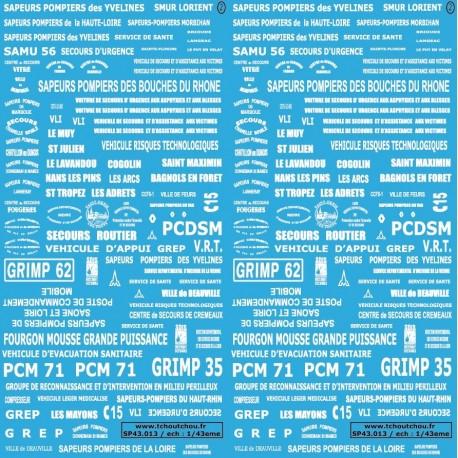 SP43.013- POMPIERS - 1/43eme - reservation