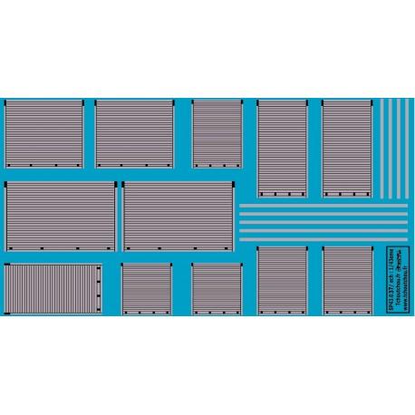 sp43.037 - rideaux gris metal - 1/43eme - reservation