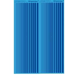MS020 - BLEU pantone 485 - bandes couleur calibré