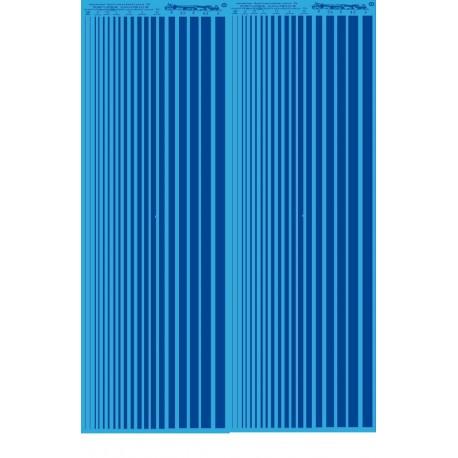 MS020 - BLEU - bandes couleurs