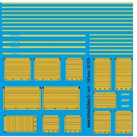 87.079 - rideaux pompiers jaune - 1/87eme
