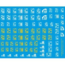 sp43.012 - pompiers logo 18 et 112 - 1/43