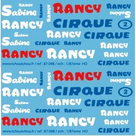 reservation - 87.098 - cirque sabine rancy - 1/87eme