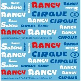 87.098 - cirque sabine rancy - 1/87eme