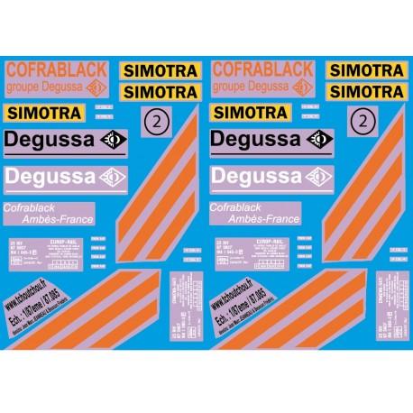 87.085 - wagon degussa + sinotra - 1/87eme Hp