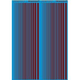 ms020 - maron pantone 181 . bandes couleur calibré