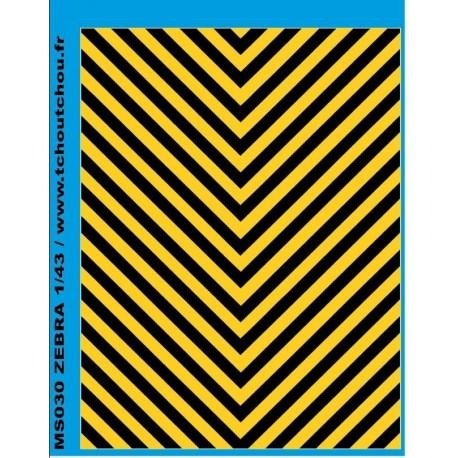 ms030 - zebra jaune/noir 1/43eme