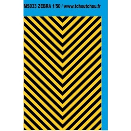 MS033 - zebra jaune/noir 1/50eme
