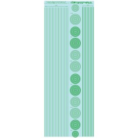 ms019 - vert - pantone 3145C : bandes et cercles de 0.25 et 0.5mm