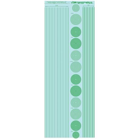 ms019 - vert: bandes et cercles de 0.25 et 0.5mm