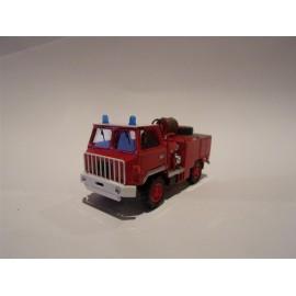 CHO01 - berliet ff415 ccf camiva 1971 pompiers - 1/87eme monté /ready