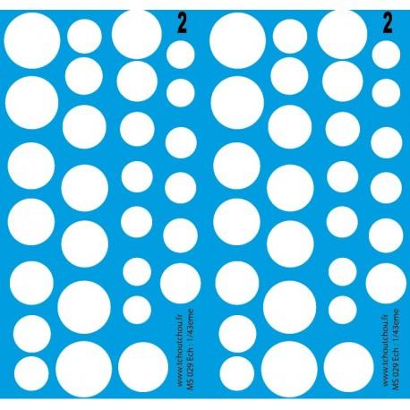 ms029 - rond blanc de 18mm à 9mm