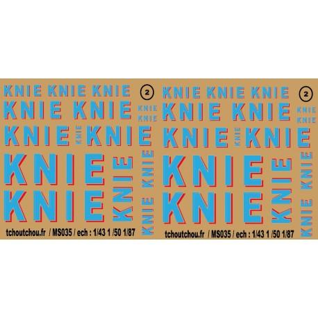 ms035 : cirque knie 1/87 1/50 1/43 decals