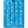 """87.121- PLANCHE DECALS 2eme DB """"1"""" / 1/87eme - reservation"""