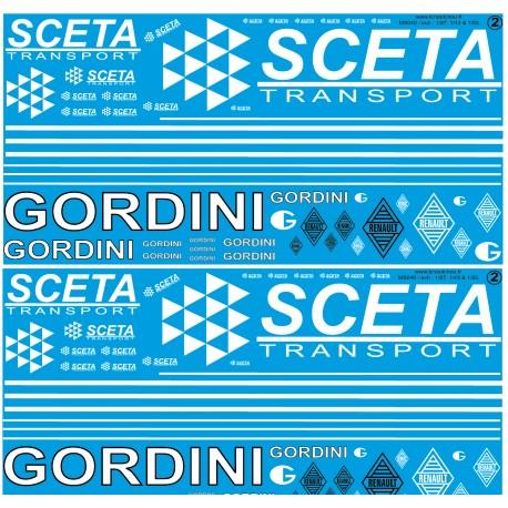 ms040 - transport sceta et camions gordini - 1/43 1/50 et 1/87eme