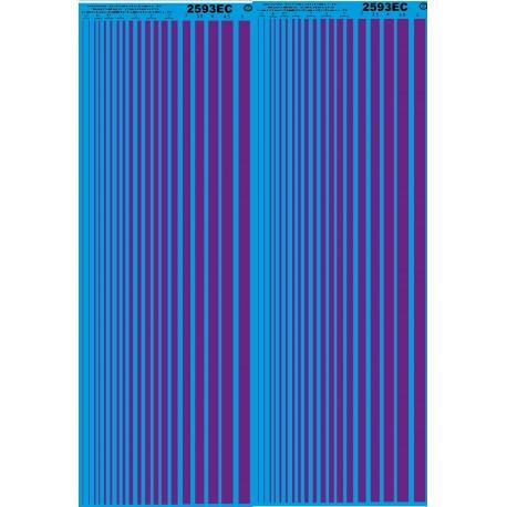 Ms20 - violet pantone 2593ec - bande de couleurs -