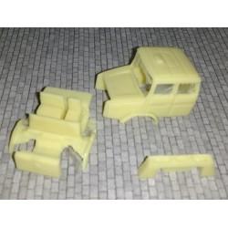 CHOCAB9 - Cabine renault C260 longue/couchette - HO - 1/87eme