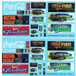 87.144 - décorations camions publicitaire - 1/87