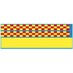 sp43.015 - jaune fluo + damier pour coté des vehicules - 1/43eme