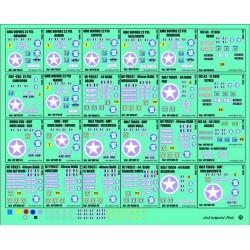 35.006 planches de imatricuation 2eme DB - 3 - 24 imatriculations - 1/35eme