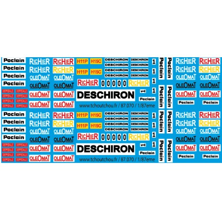 87.070 - poclain richier oleomat deschiron - 1/87eme HO
