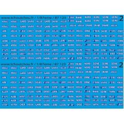 87.123 - Plaques départementales pour véhicules utilitaires et poids lourds , 1935-1964 - 1/87eme HO