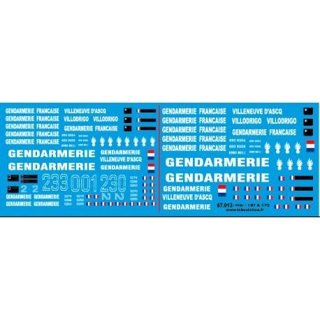 87.013 - VAB gendarmerie du liban 1/87eme et 1/72eme