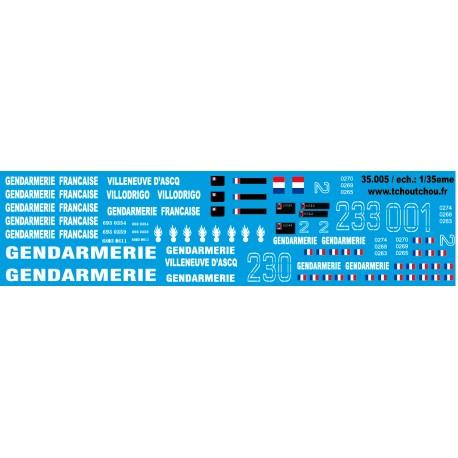35.005 - VAB gendarmerie - 1/35eme