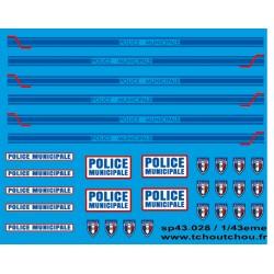 sp43.028 - Police municipal - 1/43eme