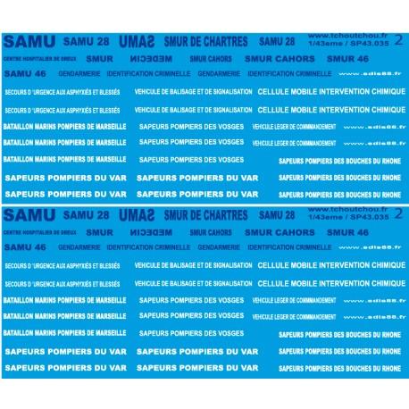 sp43.035 - pompiers et SAMU - 1/43eme