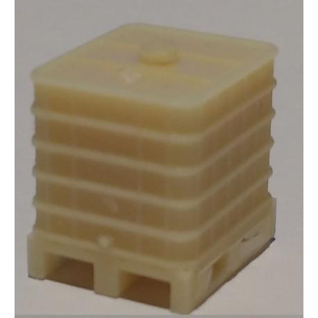CHOP014 - palette avec une cuve réservoir IBC - HO 1/87eme