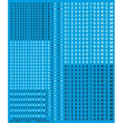 87.061 - letrage helvetica pour reimatriculer vos machines - 1/87eme HO