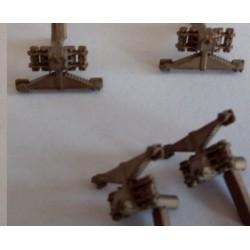 CHOP20 - ressorts de suspension et boites d'essieux pour locotracteurs - 4 piéces - 1/87eme HO